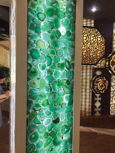 Light Passing Semi Precious Stone Green Agate Panels - Natural Stone Panels