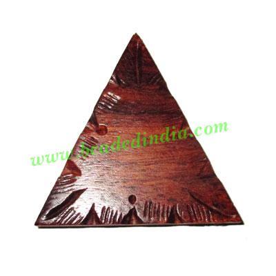 Handmade wooden fancy pendants, size : 50x6mm - Handmade wooden fancy pendants, size : 50x6mm