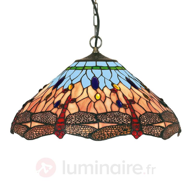 Suspension classique DRAGONFLY de style Tiffany - Suspensions style Tiffany