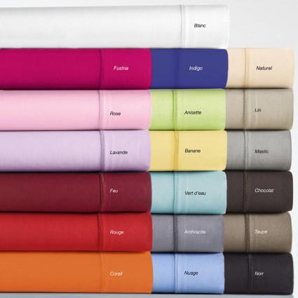 Linge de lit : draps, taies, alèses - Linge de Lit blanc et couleurs Coton