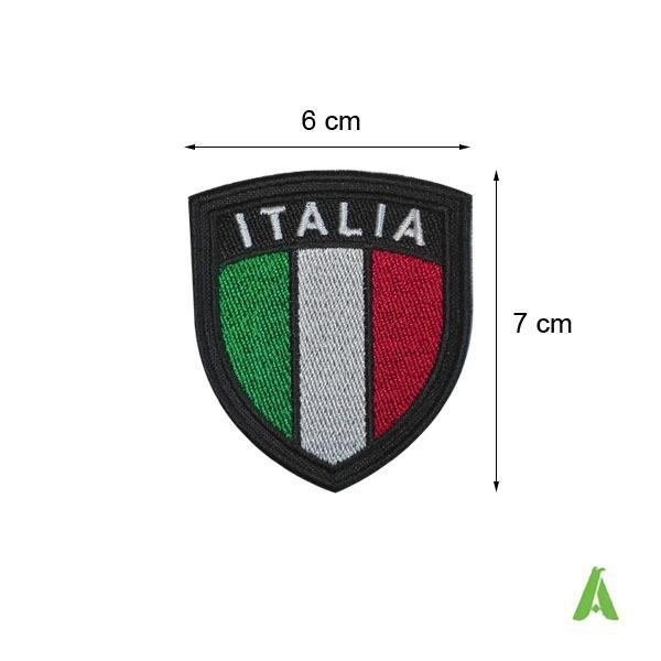 Bandiere Italia da stirare o cucire su abbigliamento - bandiere tricolori Italiano ricamate, da stirare a caldo o cucire su tessile