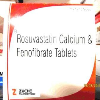 Rosuvastatin Calcium and Fenofibrate Tablets