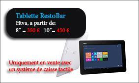 CAISSES TACTILES - Tablette RestoBar