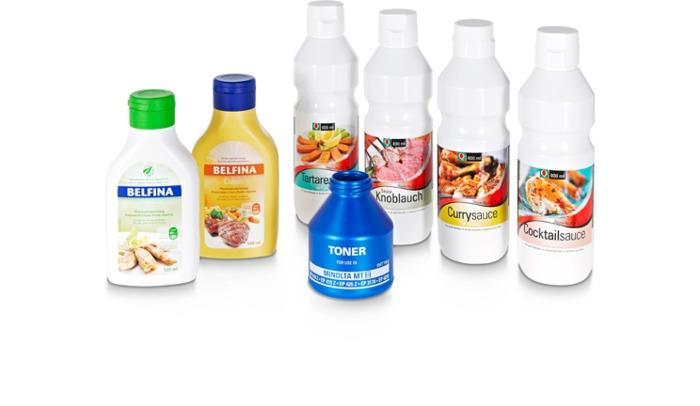 Individuelle Flaschen und Behälter -