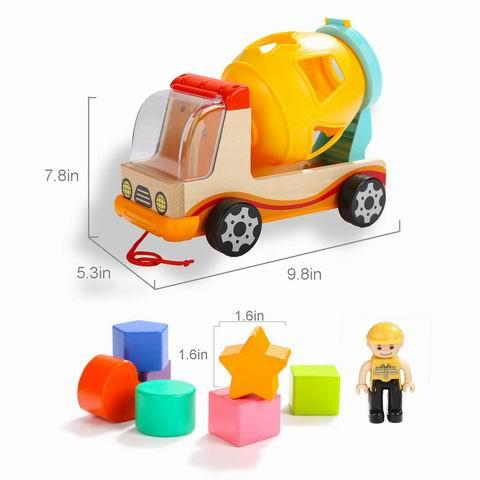Wooden Shape Sorter Toys for Toddlers Learning Toys - New kids wooden maze toy, Top Quality children Animal String bead toys