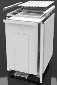 GSM Telecom Shelters  - GSM-shelter-secondary-roof-equipment-container-cabin