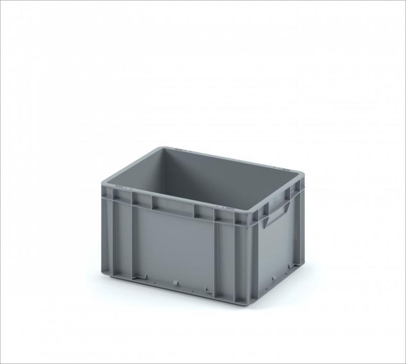 Plastic crate 400х300х220 (ЕС-4322) with smooth solid bottom - Art.: 12.310.91