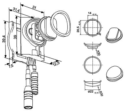 Combinaison du capteur externe avec la vanne à... - 050-M07.12E/-24E