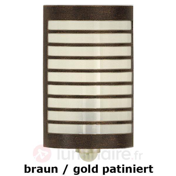 Applique TERU av détecteur de mouvement brun doré - Toutes les appliques d'extérieur