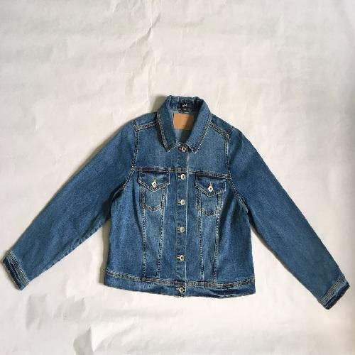Women's denim coat  Stonewashed denim jacket -