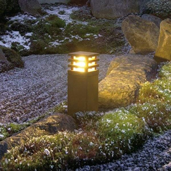 Rusty Square Pillar Light High-Quality - Pillar Lights