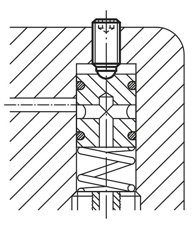 Vis à bille orientable à tête HC en Inox avec bille pleine - Vis à bille orientable et inserts à picots