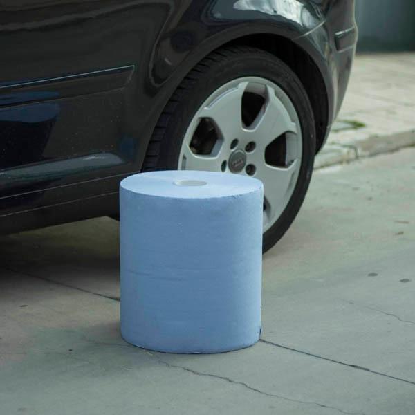 Bobina Industrial De Celulosa Azul Planethair Store Con Certificado Alimentario - null
