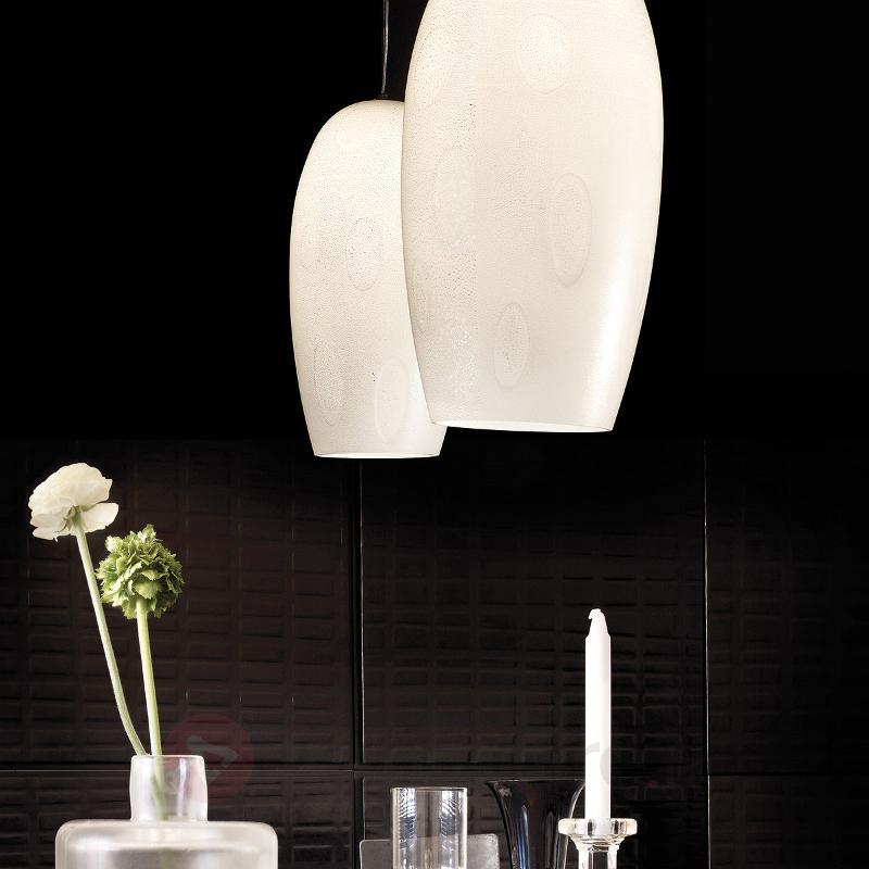 Lampe à suspension deux flammes Marble - Suspensions en verre