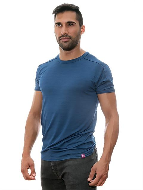 "The Blue T-shirt ""Lyocell Indigo"" - Casual Collection of Stezzo Vivere"
