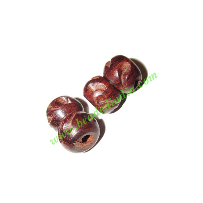 Rosewood Beads, Handcrafted designs, size 11x17mm, weight ap - Rosewood Beads, Handcrafted designs, size 11x17mm, weight approx 1.4 grams