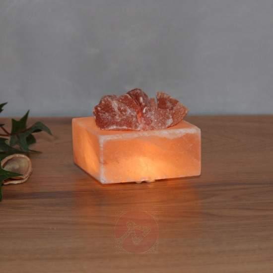 Petite Cube - luminous LED salt crystal bowl - null