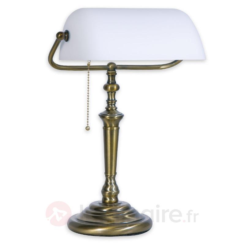 Lampe à poser classique, blanc - Lampes à poser classiques, antiques