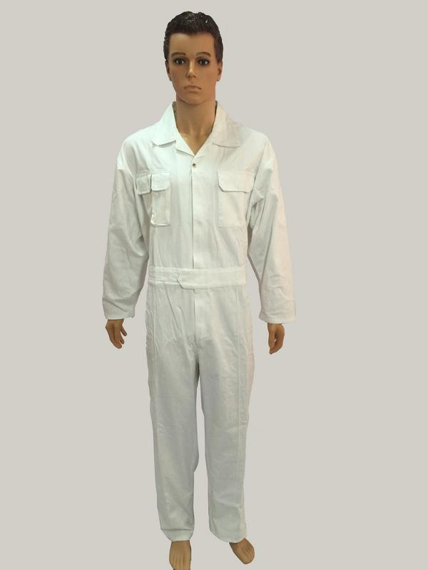 Coverall with two chest pockets  - with plastic zipper