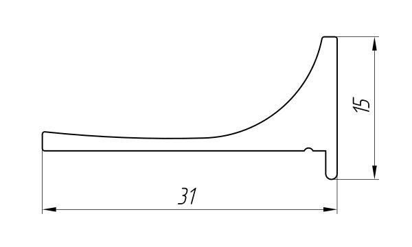 Aluminum Profile For Car And Rail Car Building Ат-1331 - Aluminum profile for mechanical engineering