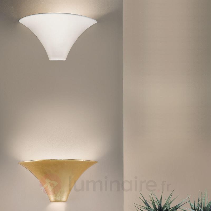 Magnifique applique CARDIN dorée brillant - Appliques à éclairage indirect