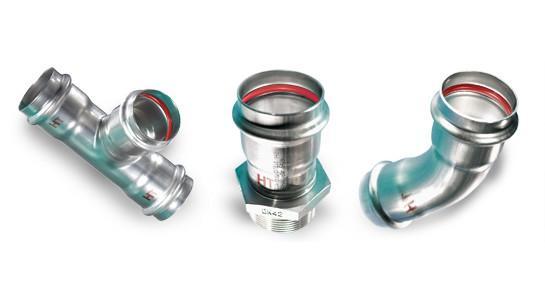 Edelstahl-Rohrleitungssystem NiroSan® Industry - NiroSan® Edelstahlfittings, 1.4404 / AISI 316L für Industrie