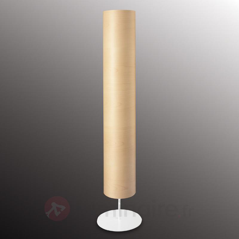 Lampadaire Funk placage érable, forme effilée - Lampadaires en bois