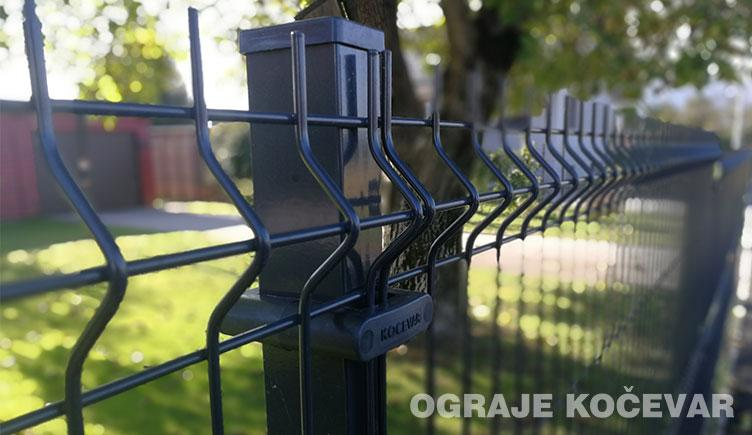 Wire fence panels 3D  - 4/5