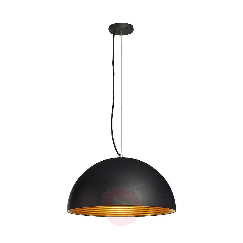 Forchini M Pendant Lamp, 50 cm, Black/Gold - Pendant Lighting