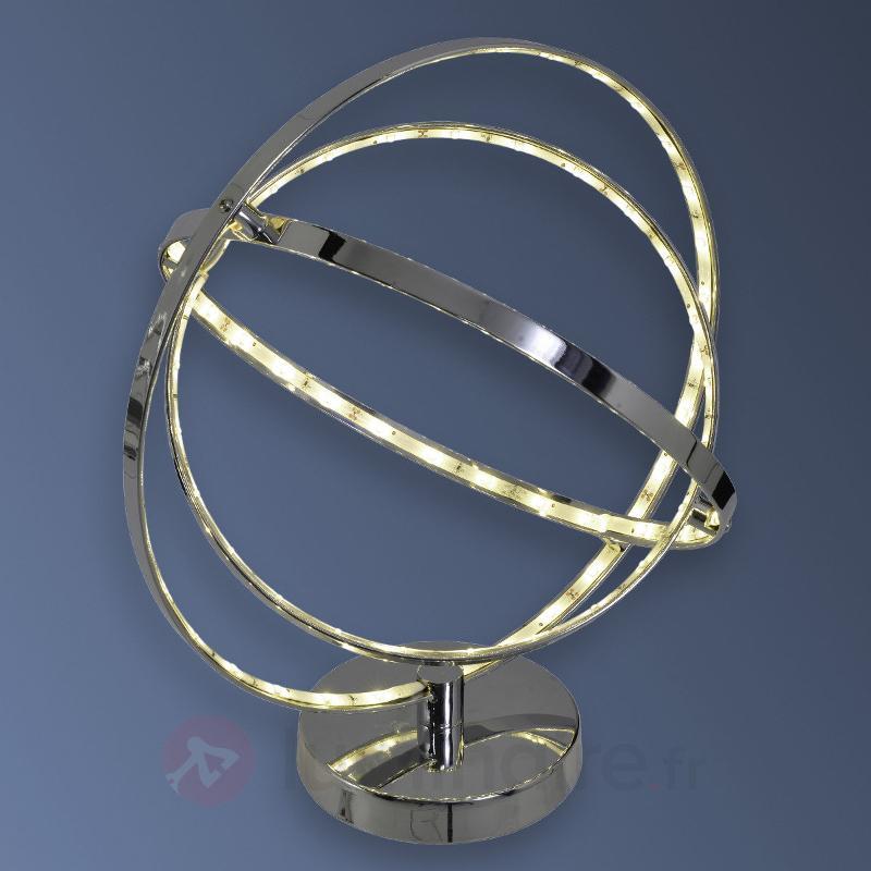 Lampe à poser LED Universe chromé-brillant - Lampes à poser LED