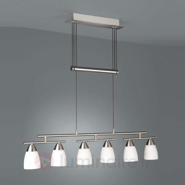 Suspension raffinée EVAINE 6 lampes - Cuisine et salle à manger