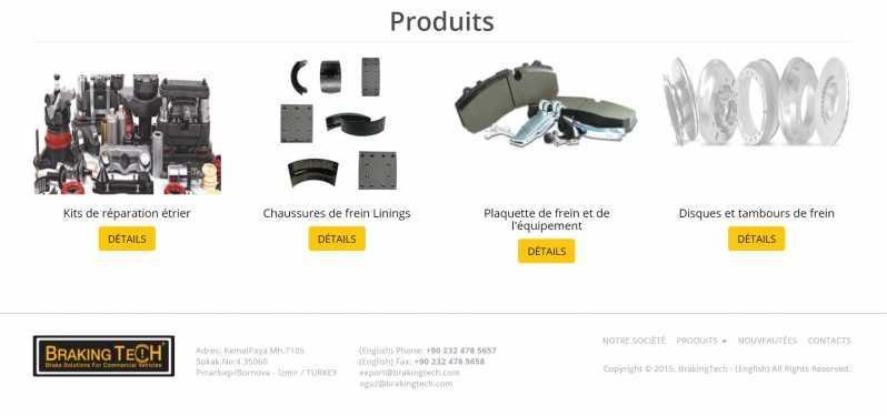 Kits de réparation de freins pour poids lourds