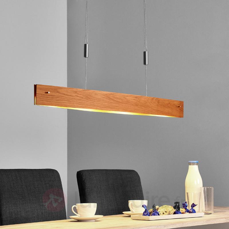 Chêne naturel - suspension LED Malu en bois - Suspensions en bois