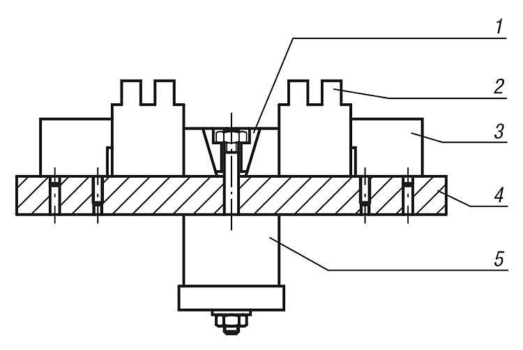 Mors de serrage avec surépaisseur d'usinage - Crampons, mors de serrage, vis et écrous de serrage