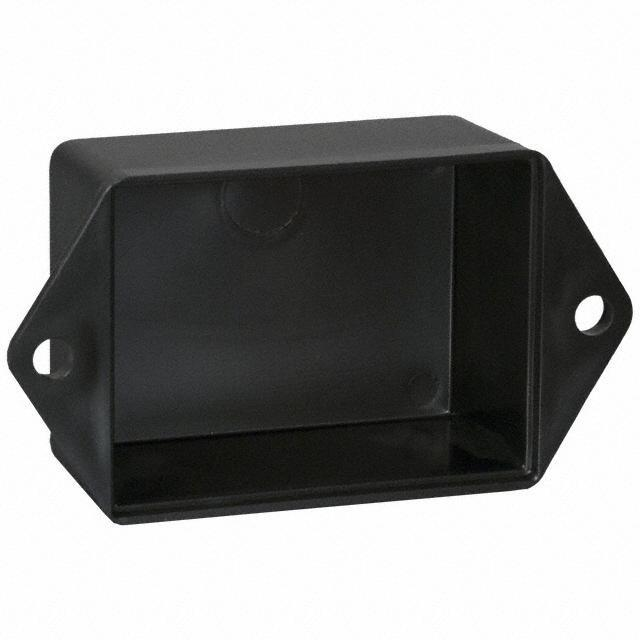 """BOX ABS BLACK 2""""L X 1.5""""W - Bud Industries PB-1558-TF"""