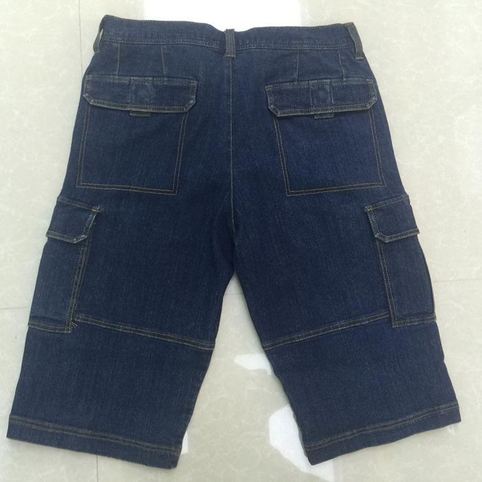 Stonewashed blue middle pants
