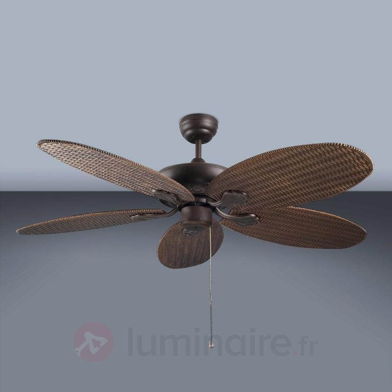 Ventilateur de plafond PHUKET effet tressé - Ventilateurs de plafond