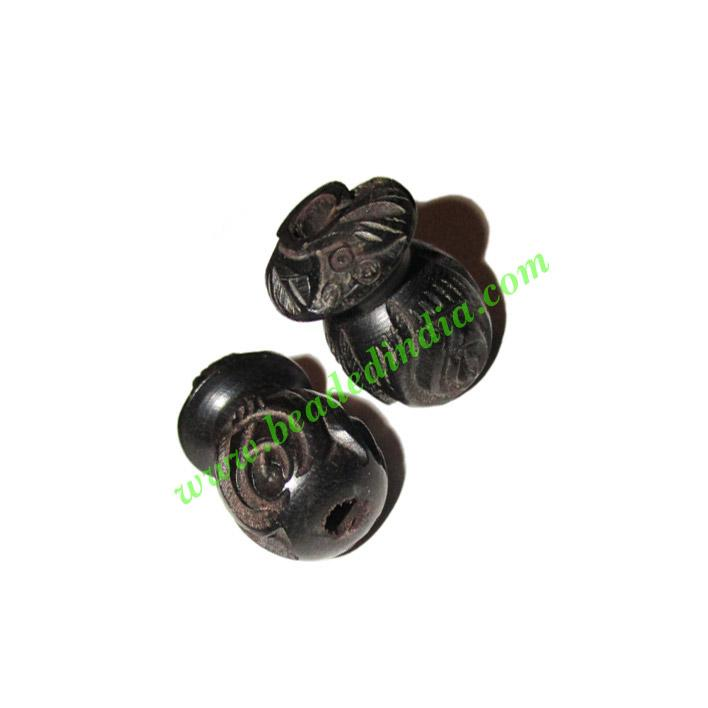 Wooden Ebony Beads, color black, size 15x22mm, weight approx - Wooden Ebony Beads, color black, size 15x22mm, weight approx 2.92 grams
