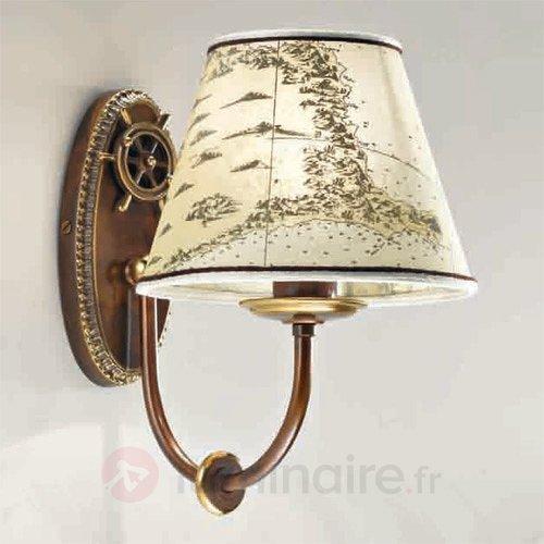 Applique style maritime Nautica 1 lampe 25 cm - Appliques rustiques