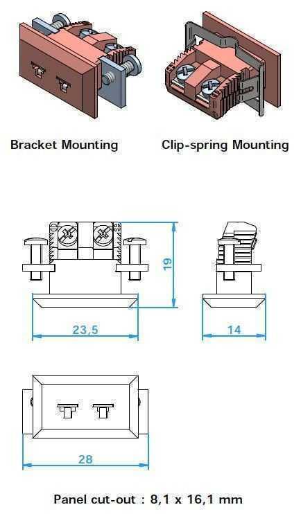 Panel Miniature Insert Flanged (PMIFB) - Panel Miniature Insert