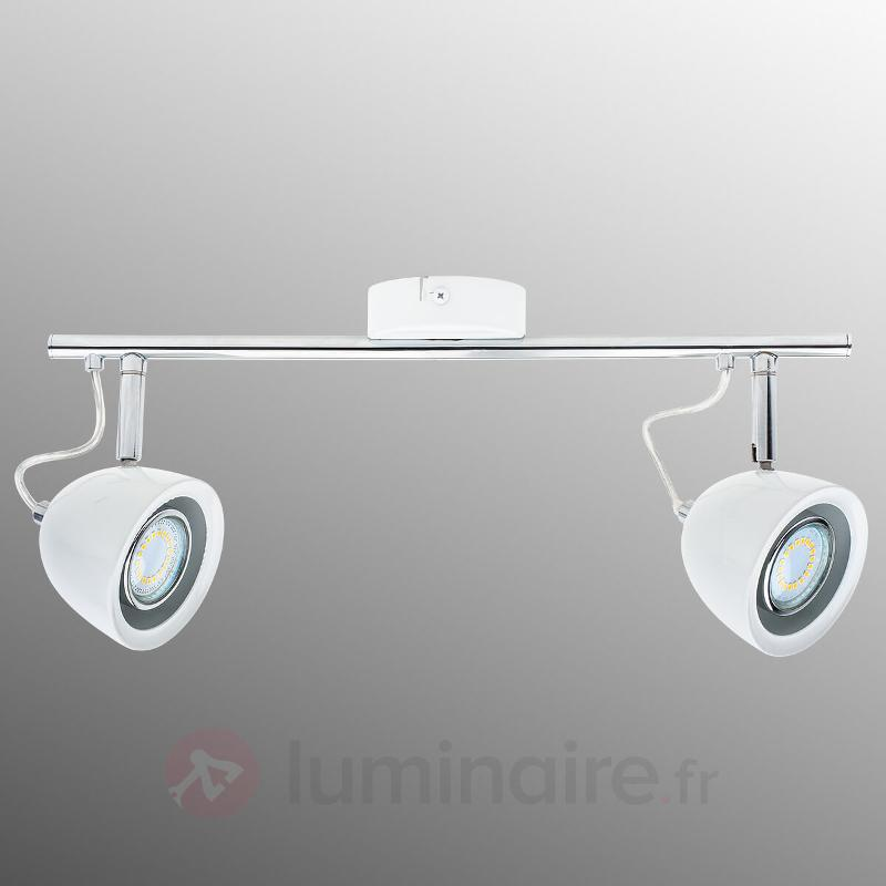 Beau plafonnier LED indémodable à 2 lampes - Plafonniers LED