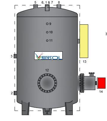 Storage Calorifier - Domestic Water Heating System- Stainless Steel, Copper Lined Calorifiers