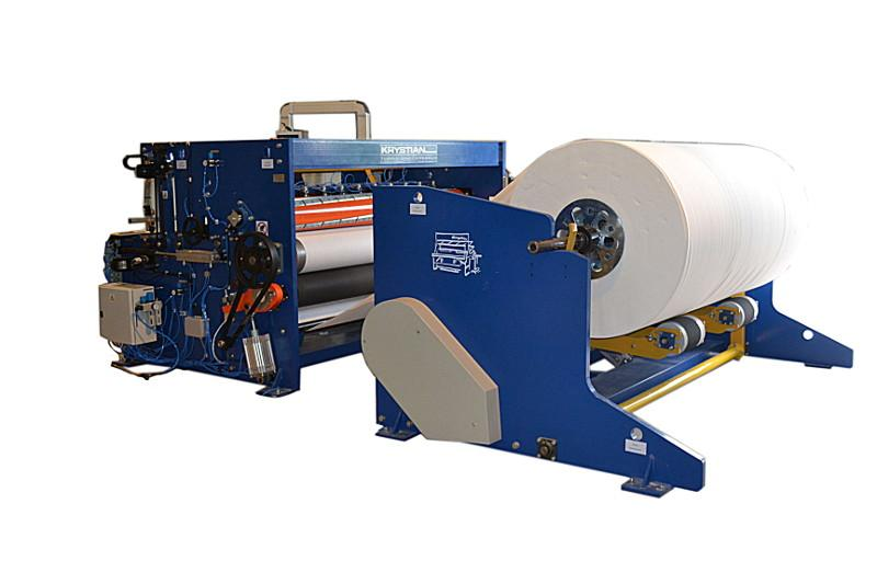 Bobbin rewinding and cutting machine for hygienic papers