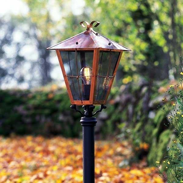 luminaire pour socle FENIX en cuivre - Toutes les bornes lumineuses