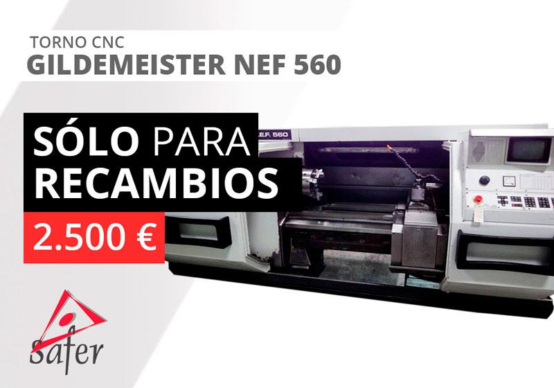 Torno CNC SOLO PARA RECAMBIOS - Gildemeister Nef 560
