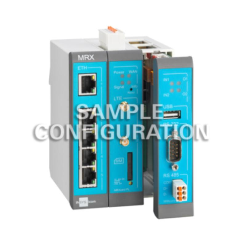 MRX3 LTE Modular 4G/LTE-Router, Switch, dig.IN, LXC - MRX3 LTE Router, 1-5 IP Network LTE/LAN/WAN, VLAN, VPN, Firewall, NAT, DHCP, DNS