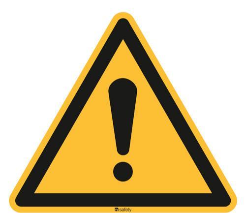 [W00] Warnung vor einer Gefahrstelle - ASR A1.3 [W001]/BGV A8 [W00]