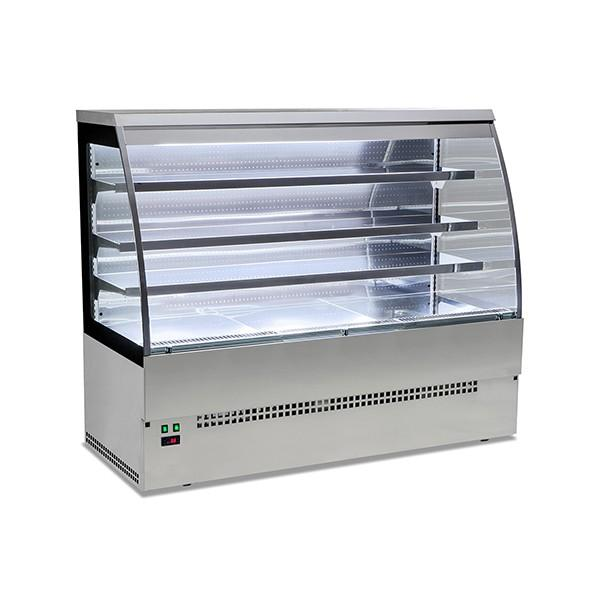 Vitrine réfrigérée SELF inox 90 cm - SYEVSELFINOX90ROUGE
