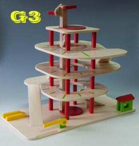 Wooden garage G3 - Wooden Toy