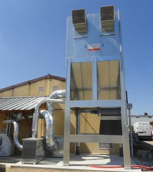 FDCC • Filtre à écluse, décolmatage par contre-courant type FDCC - Filtre pour les metiers du bois à decolmatage par contre courant